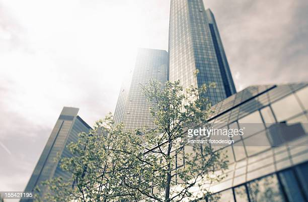 Moderne Architektur, Deutsche Bank, Grün Towers
