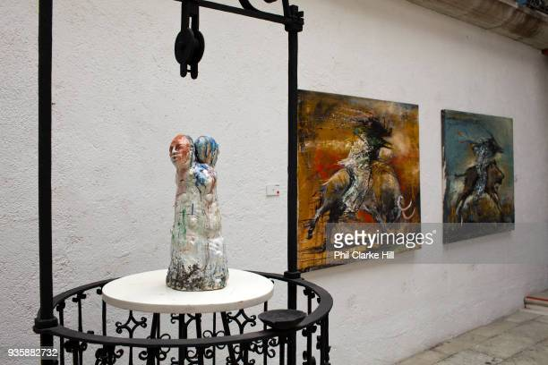 Contemporary art in a gallery in Oaxaca a city that is known throughout Mexico and internationally for it's cultural and artistic heritage and is...