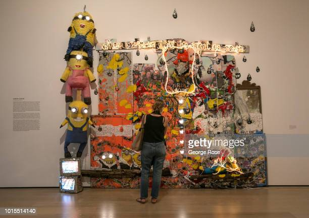Contemporary art installation by artist Aaron Fowler is viewed at the Hammer Museum on Wilshire Blvd in Westwood Village on August 7, 2018 in Los...