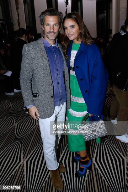 Contemporary artist Aaron Young and Laure HeriardDubreuil attend the Haider Ackermann Menswear Fall/Winter 20182019 show as part of Paris Fashion...