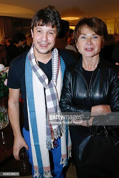 Contemporary artist Adel Abdessemed and Director of Louis Vuitton Fundation Suzanne Page attend Helene Cixous receives Insignia of Officer of the...