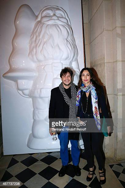 Contemporary artist Adel Abdessemed and his wife Julie attend the Monnaie De Paris Reopening Party with Opening of the McCarthy Exhibition on October...