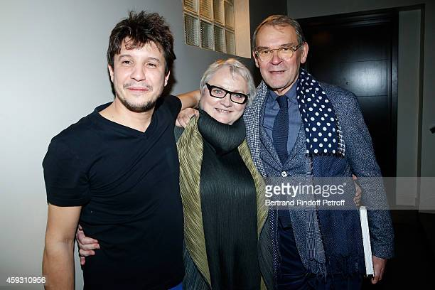 Contemporary artist Adel Abdessemed Claudine Colin and JeanJacques Aillagon attend Helene Cixous receives Insignia of Officer of the Legion of Honor...
