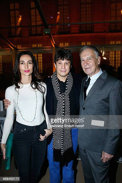 Contemporary artist Adel Abdessemed his wife Julie Abdessemed and Yvon Lambert attend a closing party and a private view in honor of the 'Solo'...