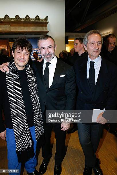 Contemporary Artist Adel Abdessemed President of Centre Pompidou Alain Seban and Director of the Centre Pompidou Museum of Modern Art Bernard...
