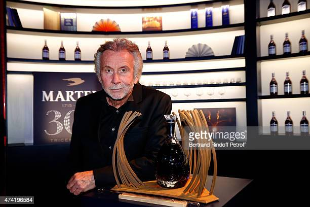Contemporary Artist Bernar Venet who created a limited edition of Martell Cognac bottle in a sculptural case for the Martell Cognacs 300th...