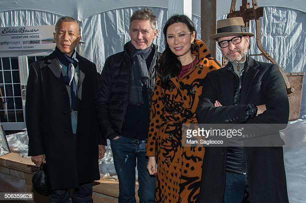 Contemporary Artist Cai GuoQiang Filmmaker Kevin MacDonald Producer Wendi Murdoch and Actor Fisher Stevens are sighted at the Sundance Film Festival...