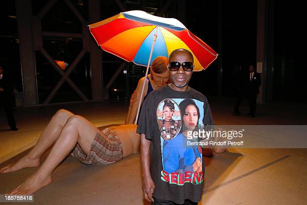 Contemporary Artist Cheri Samba attends the 'Ron Mueck' Exhibition Closing Night at 'Fondation Cartier pour L'Art Contemporain' on October 24 2013 in...
