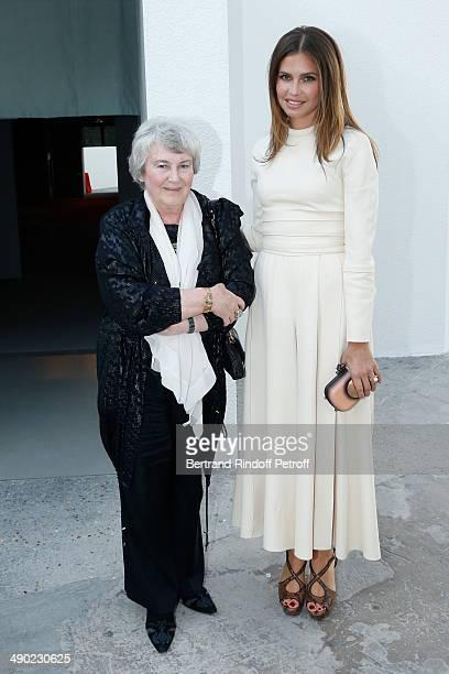 Contemporary artist Emilia Kabakov and Galerist Dasha Zhukova attend 'The strange city' Exhibition by Ilya and Emilia Kabakov at Monumenta 2014...