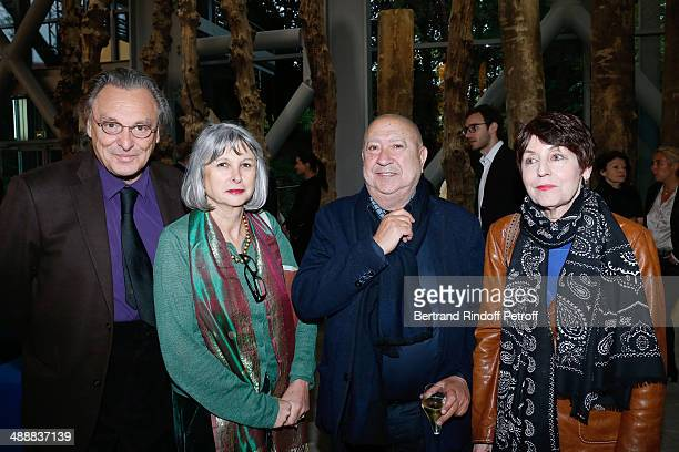 Contemporary artist Gerard Garouste and his wife Elisabeth Garouste contemporary artists Christian Boltanski and Annette Messager attend the...