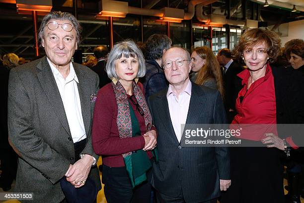 Contemporary Artist Gerard Garouste his wife Elisabeth Garouste galerist Daniel Templon and Journalist Annie CohenSolal attend the Tribute to Alfred...