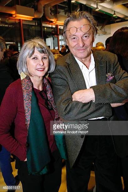 Contemporary Artist Gerard Garouste with his wife Elisabeth Garouste attend the Tribute to Alfred Pacquement Director of the Centre Pompidou Museum...