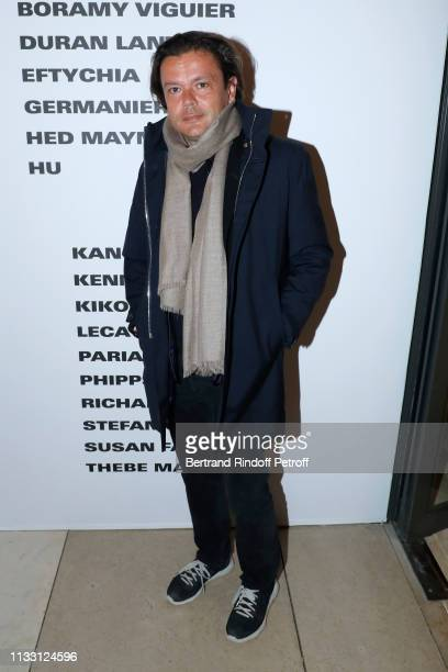 Contemporary Artist JeanMichel Othoniel attends the LVMH Prize 2019 Edition at Louis Vuitton Avenue Montaigne Store on March 01 2019 in Paris France