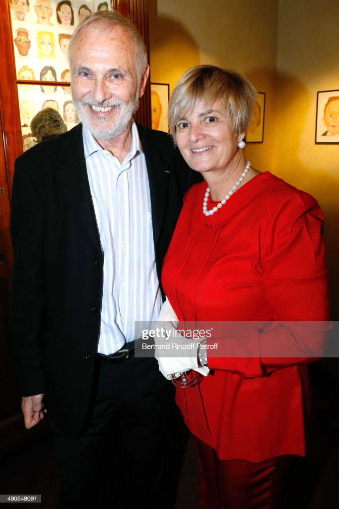 Contemporary Artist Philippe Morillon and Princess Gloria von Thurn und Taxis attend the 'Voila Cherie' : Gloria von Thurn und Taxis Exhibition opening party at Galerie Passebon on May 14, 2014 in Paris, France.