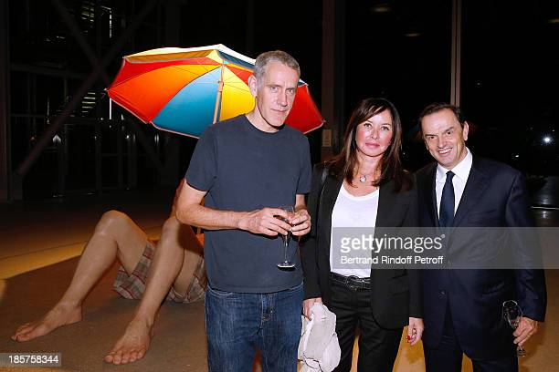 Contemporary artist Ron Mueck Mathe Perrin and CEO Cartier Stanislas de Quercize attend the 'Ron Mueck' Exhibition Closing Night at 'Fondation...