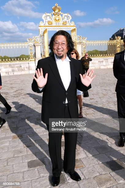 Contemporary artist Takashi Murakami attends the private tour and dinner of the Lee Ufan's Exhibition at Chateau de Versailles on June 15 2014 in...
