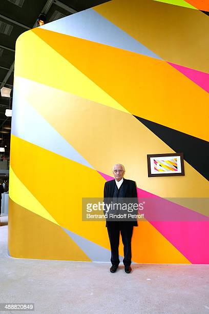 Contemporary artists Alessandro Mendini poses front of his work at the 'Fondation Cartier pour l'art contemporain' celebrates its 30th anniversary on...