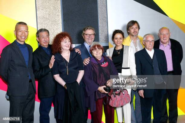 Contemporary artists Guo-Qiang Cai, Issey Miyake, photographer Nan Goldin, founder of 'Fondation Cartier' Alain Dominique Perrin, photographer Agnes...