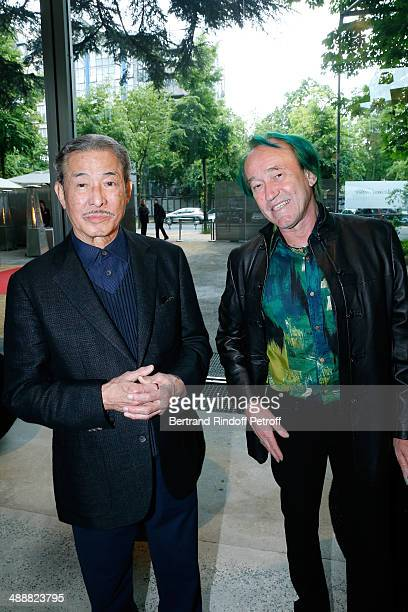 Contemporary artists Issey Miyake and botanist Patrick Blanc attend the 'Fondation Cartier pour l'art contemporain' celebrates its 30th anniversary...