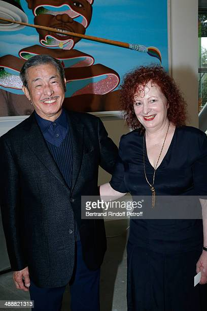 Contemporary artists Issey Miyake and Photographer Nan Goldin attend the 'Fondation Cartier pour l'art contemporain' celebrates its 30th anniversary...