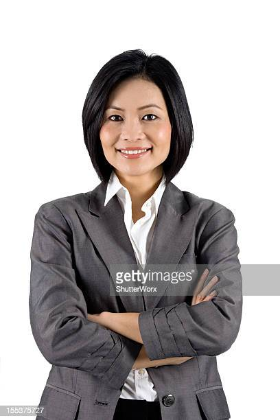 contemporary asian businesswoman - gray blazer stock pictures, royalty-free photos & images