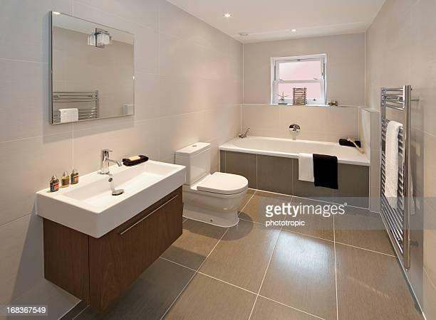 contemporary bathroom - bathroom stock photos and pictures