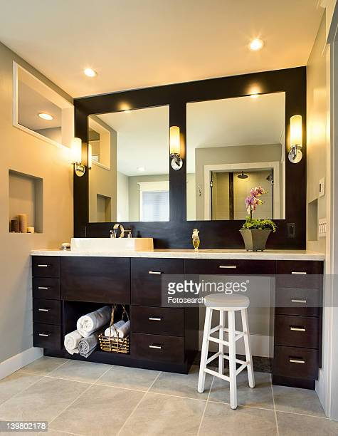 Contemporary bathroom sink and vanity