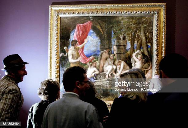 Contemporary British artists look at Titian's 'Diana and Actaeon' one of the most celebrated masterpieces of the Italian Renaissance at the National...