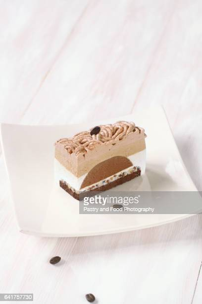 Contemporary Chestnut and Coffee Mousse Cake