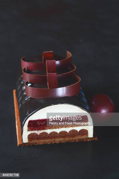 Contemporary Chocolate Cherry Mousse Cake