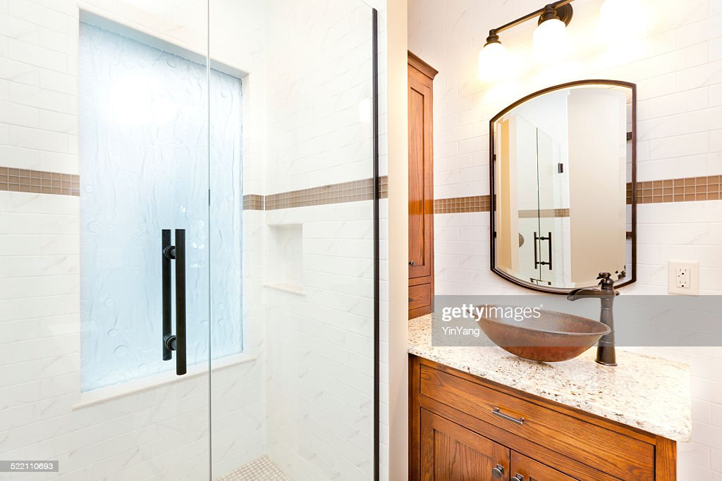 Vanity Sink And Shower Stall