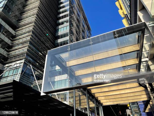 contemporary corporate buildings in sydney, australia - darling harbour stock pictures, royalty-free photos & images