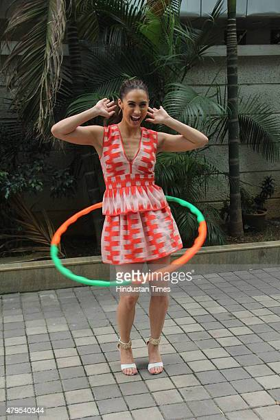 Contemporary dancer and Jhalak Dikhhla Jaa 7 contestant Lauren Gottlieb during the promotion of dance reality show Jhalak Dikhhla Jaa 8 at Hard Rock...