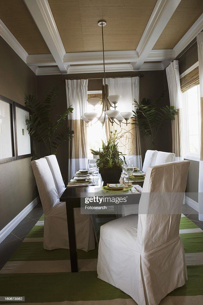 Contemporary dining room : Stock Photo