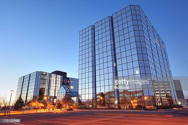 Contemporary Glass Office Buildings