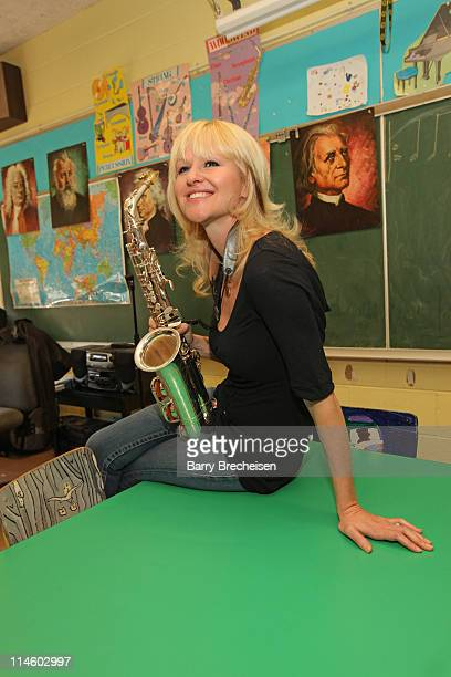 Contemporary jazz saxophonist Mindi Abair joins Campbell's Labels for Education program and the GRAMMY Foundation to award Louisa May Alcott...