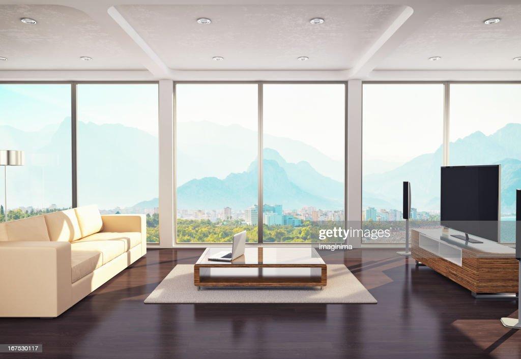 Design moderne de la salle de séjour : Photo