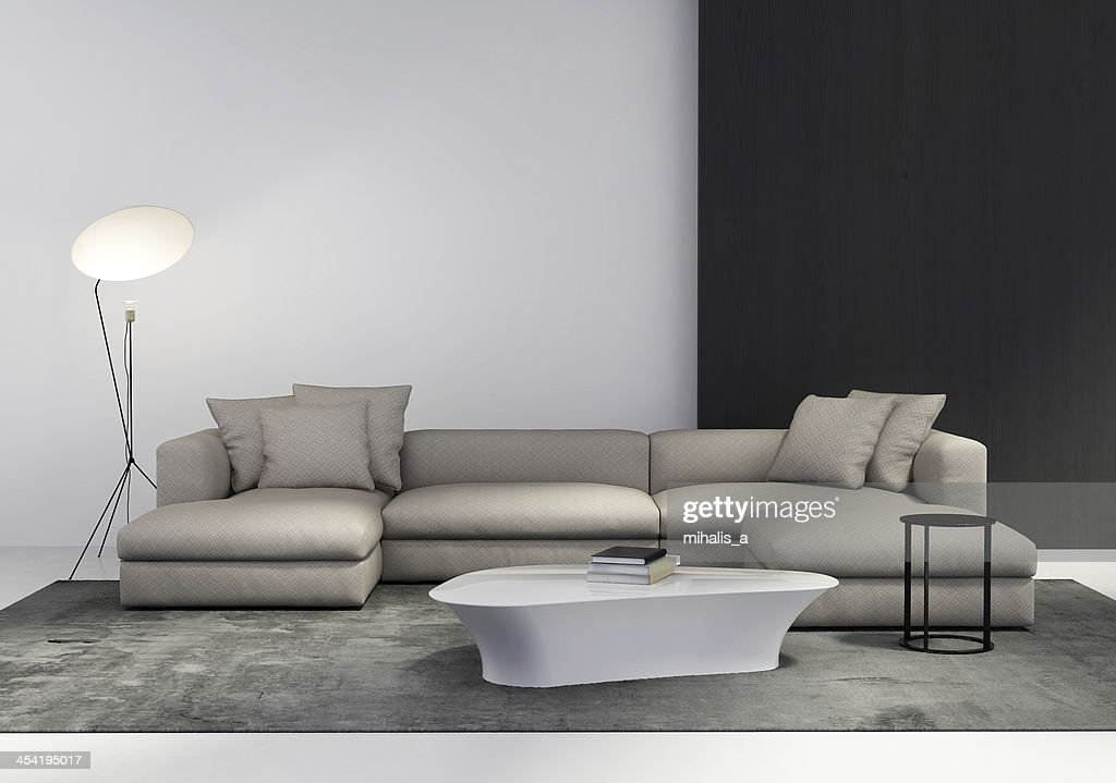 Contemporary living room interior : Stock Photo