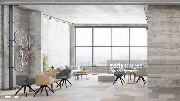 contemporary office interior with lobby - ceiling stock pictures, royalty-free photos & images