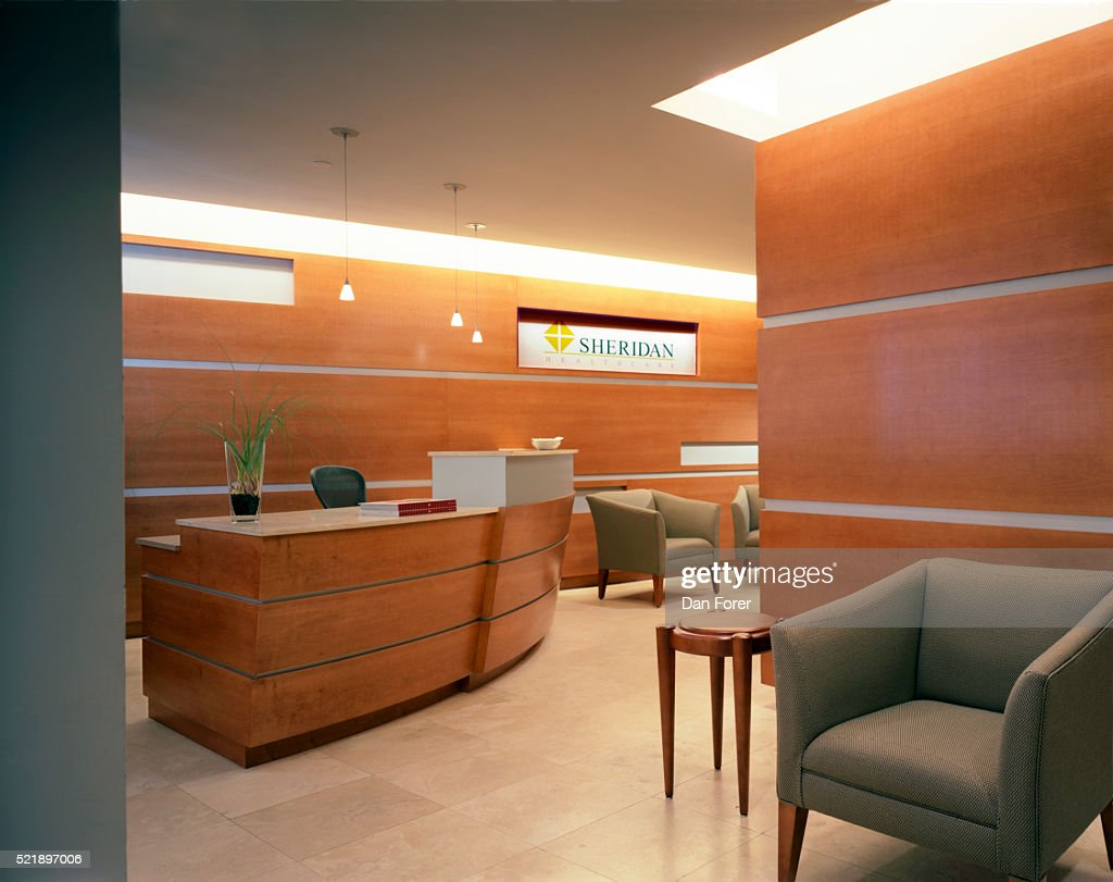 office wood paneling. Contemporary Office Interior With Wood Paneling : Stock Photo