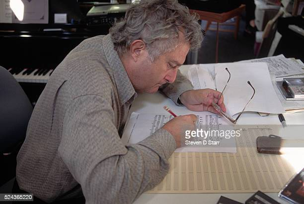 Contemporary songwriter Randy Newman a well known composer for motion pictures in his studio