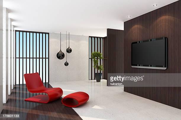 Contemporary TV Room