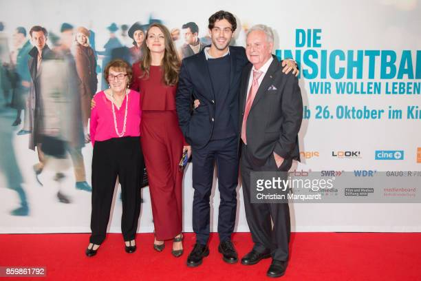 Contemporary Witnesses Hanni Levy and Eugen HermanFriede played by Actress Alice Dwyer and Actor Aaron Altaras attend the premiere of 'Die...