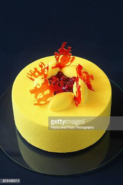Contemporary Yellow Velvet Mousse Cake
