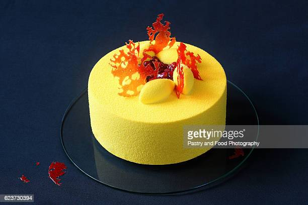 Contemporary Yellow Velvet Mousse Cake