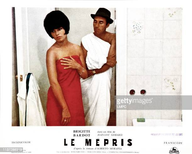 Contempt lobbycard from left Brigitte Bardot Michel Piccoli 1963
