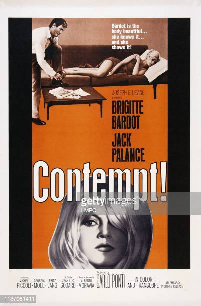 Contempt poster US poster top from left Jack Palance Brigitte Bardot 1963