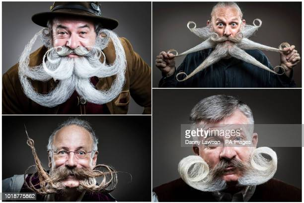 Contenders for the fourth British Beard and Moustache Championships at the Empress Ballroom Winter Gardens Blackpool