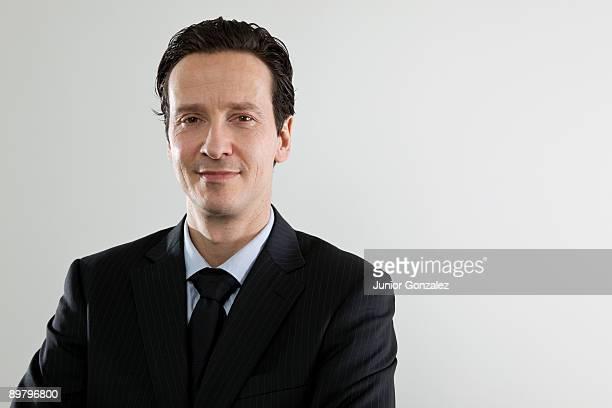A content businessman, portrait
