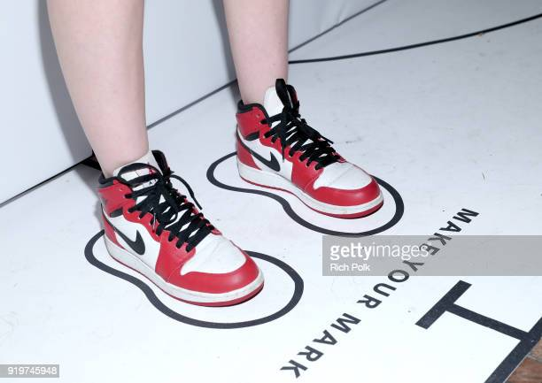 Content Creator Giulia White wearing Jordan attends GOAT and James Harden Celebrate NBA AllStar Weekend 2018 at Poppy on February 17 2018 in Los...